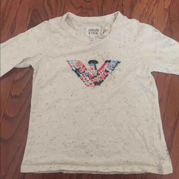 58d7daa2b Armani Junior Shirts & Tops | Girl Long Sleeve Tee | Poshmark